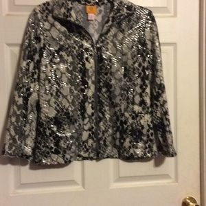 """NWOT """" Fishscale"""" Zippered Jacket by RUBY ROAD"""